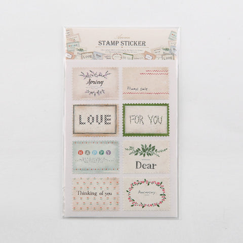 Ancien Stamp Stickers - Message