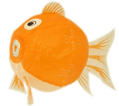 Kami Fusen (Japanese Paper Balloons) - Orange Fish