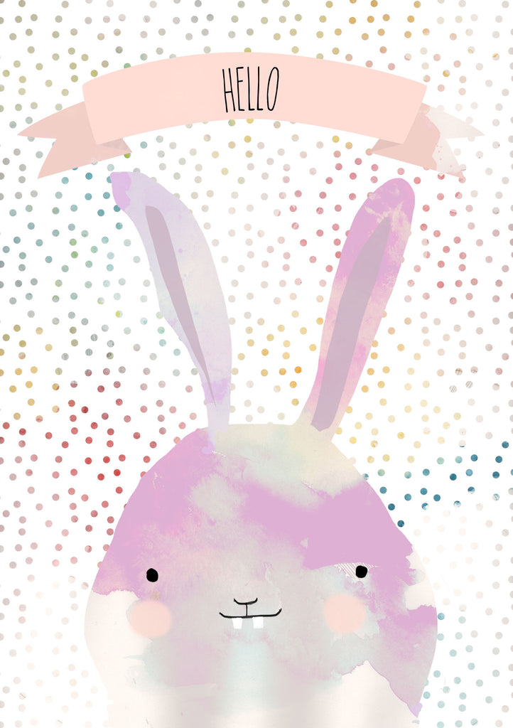 Jesses Mess Postcard - Bunny