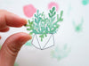 And Smile Studio Brooch - Succulent In A Geometric Pot