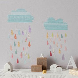 Mini Summer Rain Fabric Decal