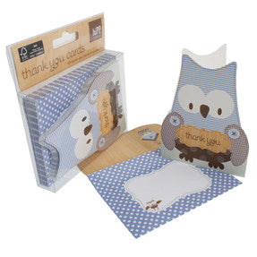 hiPP Little People Owl Thank You Cards