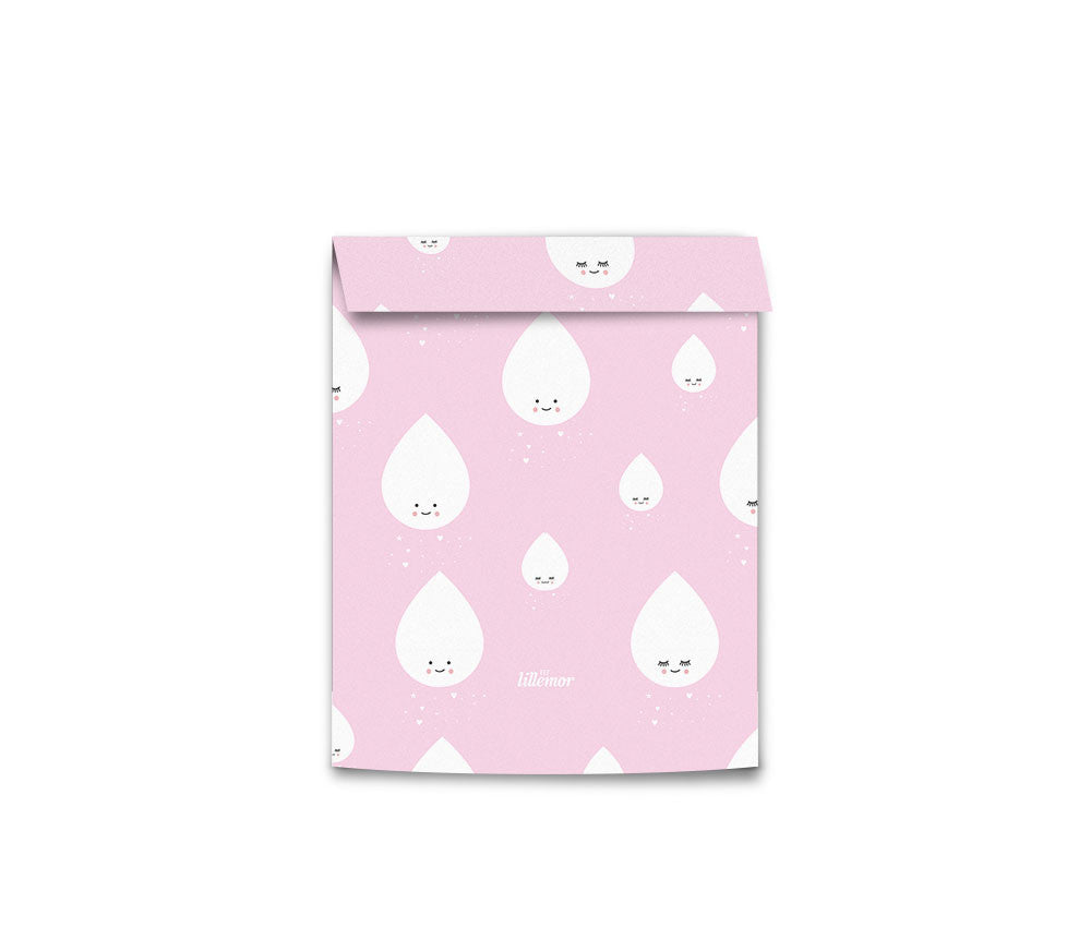 Eef Lillemor Wrapping bags Small - Pink Drops (5pk)