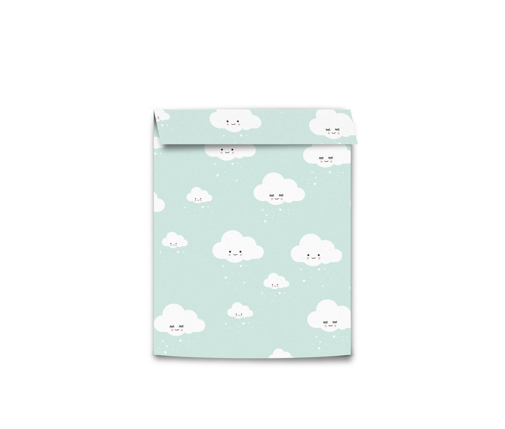 Eef Lillemor Wrapping bags Small - Mint Clouds (5pk)