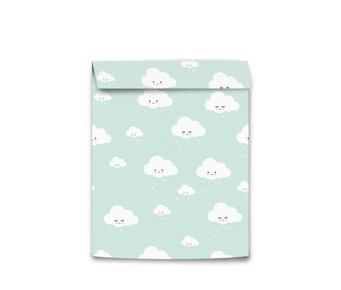 Eef Lillemor Wrapping bags Medium - Mint Clouds (5pk)