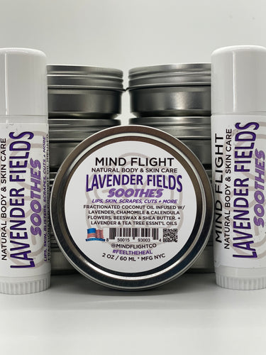 * Lavender Fields (2 Oz Tins & .5 Oz Tubes)