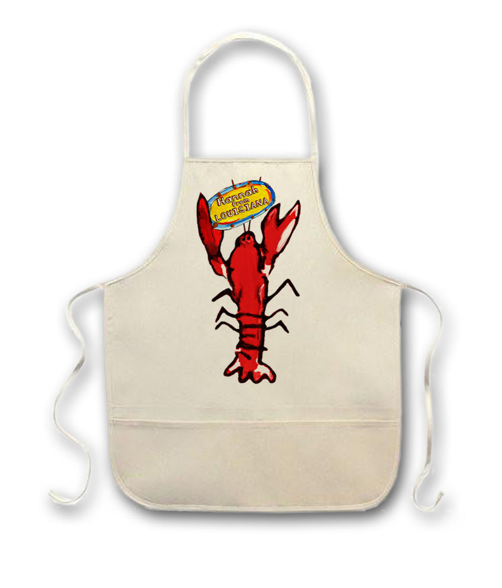 Hannah From Louisiana: Adventures at Steamboat Bills in Lake Charles Louisiana Seafood Restaurant written by Paige Vidrine and illustrated by Candice Alexander Childrens Apron