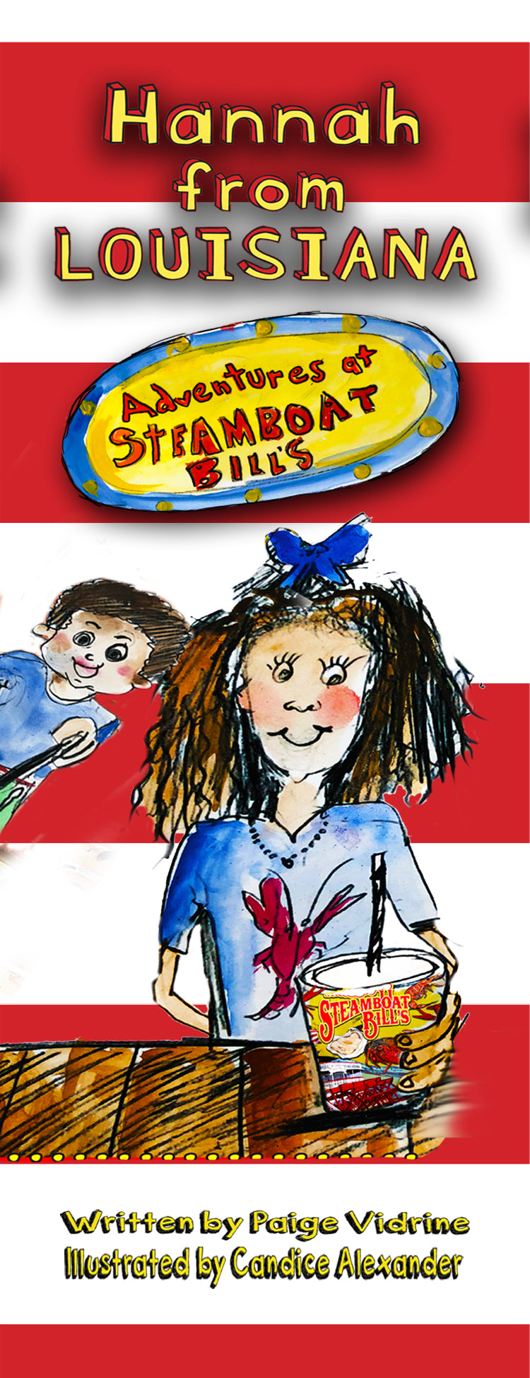 HANNAH from louisiana adventures at steamboat bills seafood restaurant in lake charles louisiana childrens book mark written by paige vidrine and illustrated by candice alexander