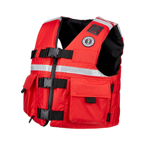 MV5606 SAR Vest with SOLAS Reflective Tape Red