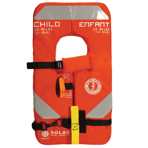MV8035 SOLAS Type 1 Child Life Jacket Orange
