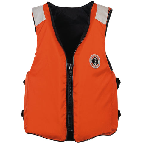 MV3196T2 Classic Industrial Flotation Vest with SOLAS Reflective Tape Orange