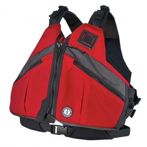 MV5801 Deluxe Paddling Foam Vest Red-Carbon-Black