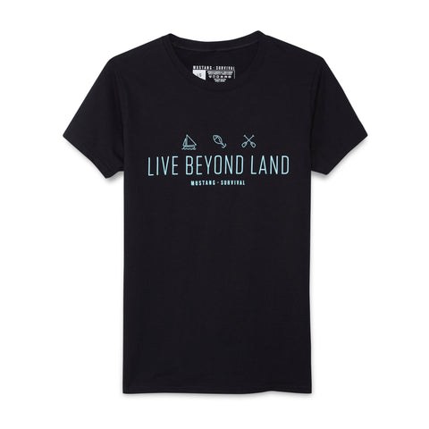 mustang survival live beyond land tee