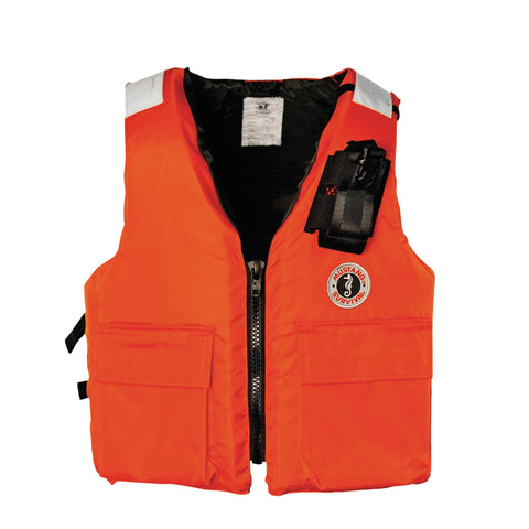 MV3119RP Two-Pocket Flotation Vest with Radio Pocket Orange