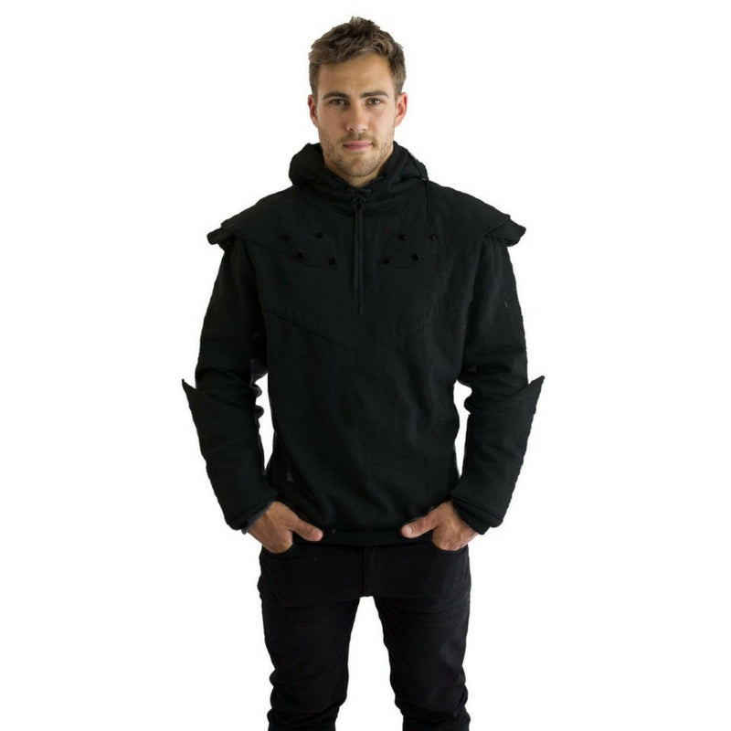 Original Knight Hoodies Black Front Full Game of Thrones