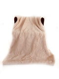 Plutus Pink  Plush Faux Fur Luxury Throw Blanket