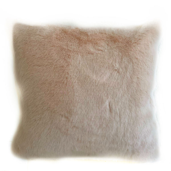 Plutus Pink Plush Animal Faux Fur Luxury Throw Pillow