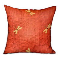Firefly Red Animal Motif Luxury Throw Pillow