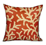 Fire Ridge Orange Floral Luxury Throw Pillow