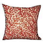 Sweet Trinidad Red Floral Luxury Throw Pillow