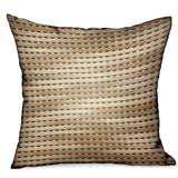 Tawny Edge Brown Stripes Luxury Outdoor/Indoor Throw Pillow