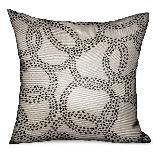 Orbit Rain Charcoal Scales Luxury Outdoor/Indoor Throw Pillow