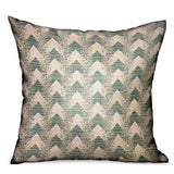 Forest Jade Sea Green Chevron Luxury Outdoor/Indoor Throw Pillow
