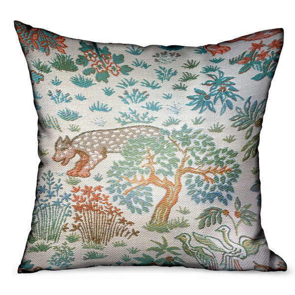 Wild Jungle Multi Animal motif Luxury Outdoor/Indoor Throw Pillow