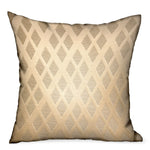 Diamond Cascade Brown Geometric Luxury Outdoor/Indoor Throw Pillow
