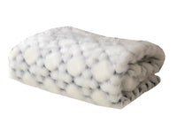 White with Black Shades Faux Fur Snow Luxury Throw