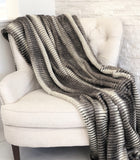 Gray and Taupe Faux Fur Luxury Throw