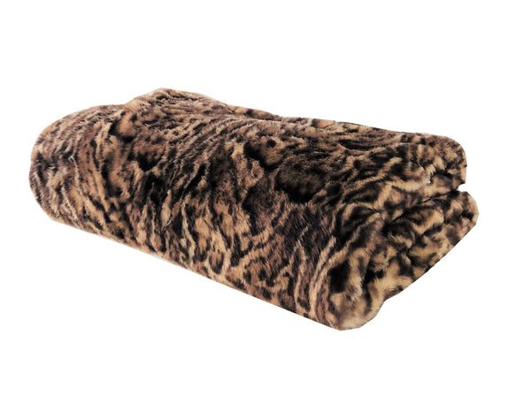 Jungle Cat Faux Fur Luxury Throw