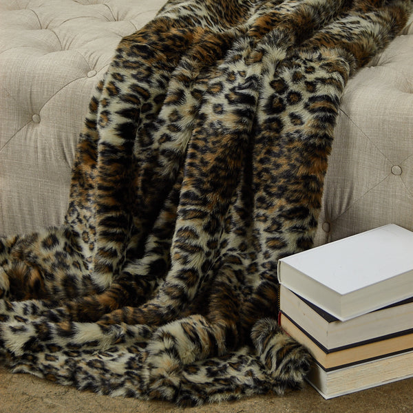 Wild Leo Faux Fur Luxury Throw