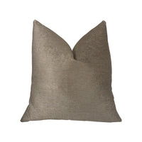 Café au lait Brown and Beige Luxury Throw Pillow