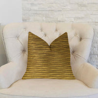 Valentina Textured Bronze Luxury Throw Pillow