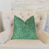 Sea Green Iota Turquoise Luxury Throw Pillow