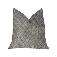 Metropolis Silver and Taupe Luxury Throw Pillow