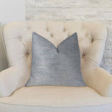 Icy Sky Blue and Silver Luxury Throw Pillow