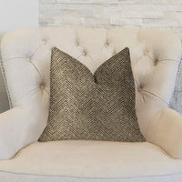 Hillside  Brown Luxury Throw Pillow