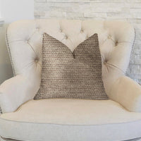 Classy Chic Ivory and Beige Luxury Throw Pillow