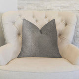 New Wave Hillside Brown Luxury Throw Pillow