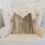 New Hampton Ivory and Beige Luxury Throw Pillow