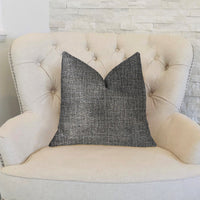 Dolphin  Gray Luxury Throw Pillow
