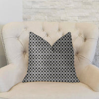 Paramount Gray and Black Luxury Throw Pillow