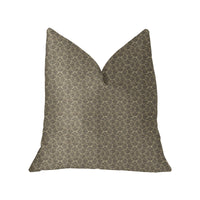 Belizzi Gray and Beige Luxury Throw Pillow