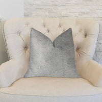 Silver Moon Gray and Silver Luxury Throw Pillow