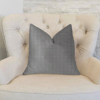 Mosaic Gray and Beige and Gold Luxury Throw Pillow