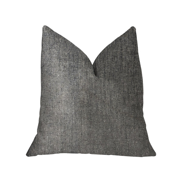 Cambridge Gray and Silver Luxury Throw Pillow