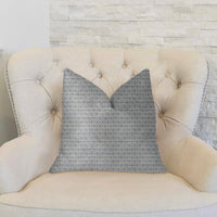 Deluxe Rockland Beige and Silver Luxury Throw Pillow
