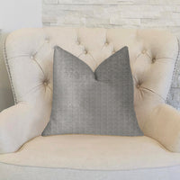 Fremont Gray and Silver Luxury Throw Pillow
